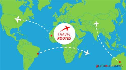 Travel Routes Maker - After Effects Project (Videohive)