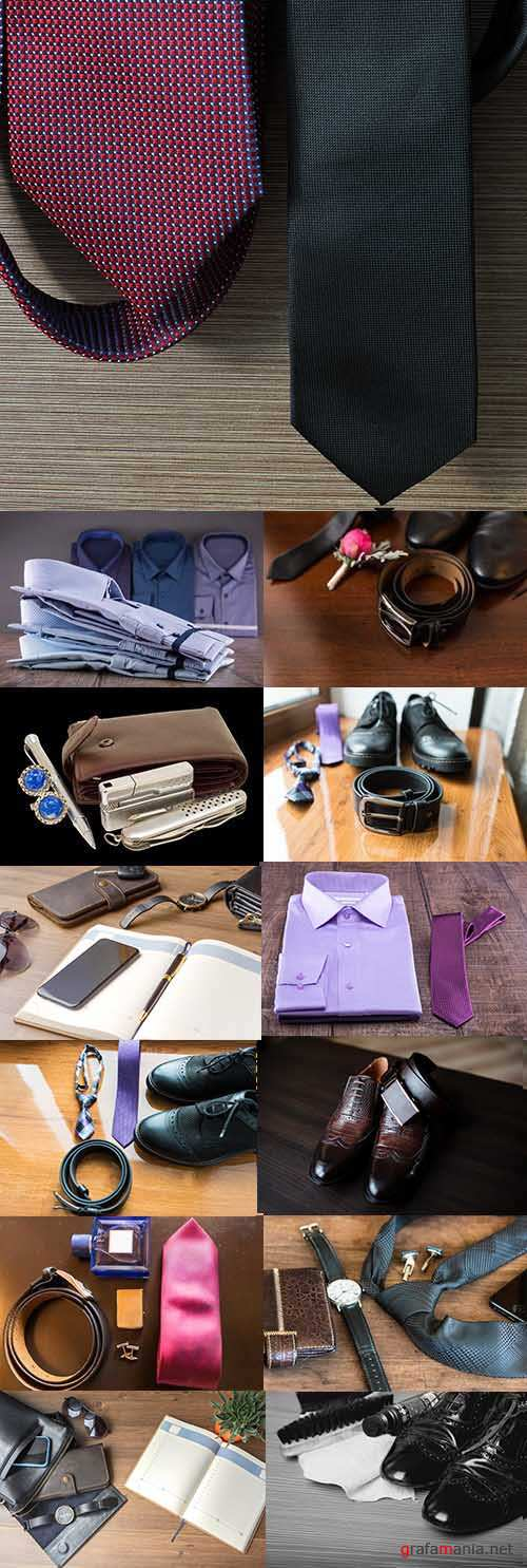 Businessman men's accessories for operation office