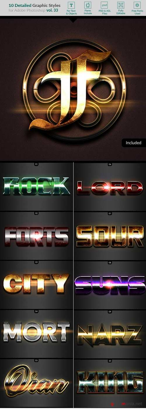 10 Text Effects Vol. 33 22808560