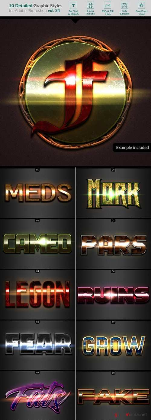 10 Text Effects Vol. 34  22949762
