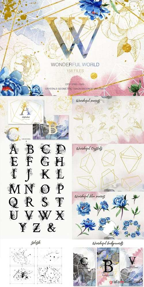 Wonderful Watercolor and Vector set SVG PNG EPS JPG - 2938454 - 3489036