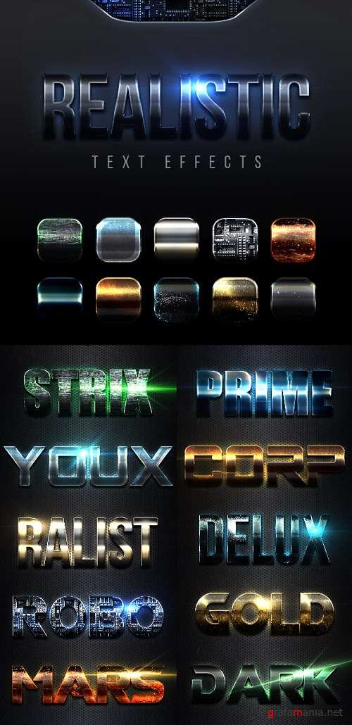 Realistic Text Effects Vol 1 23007348