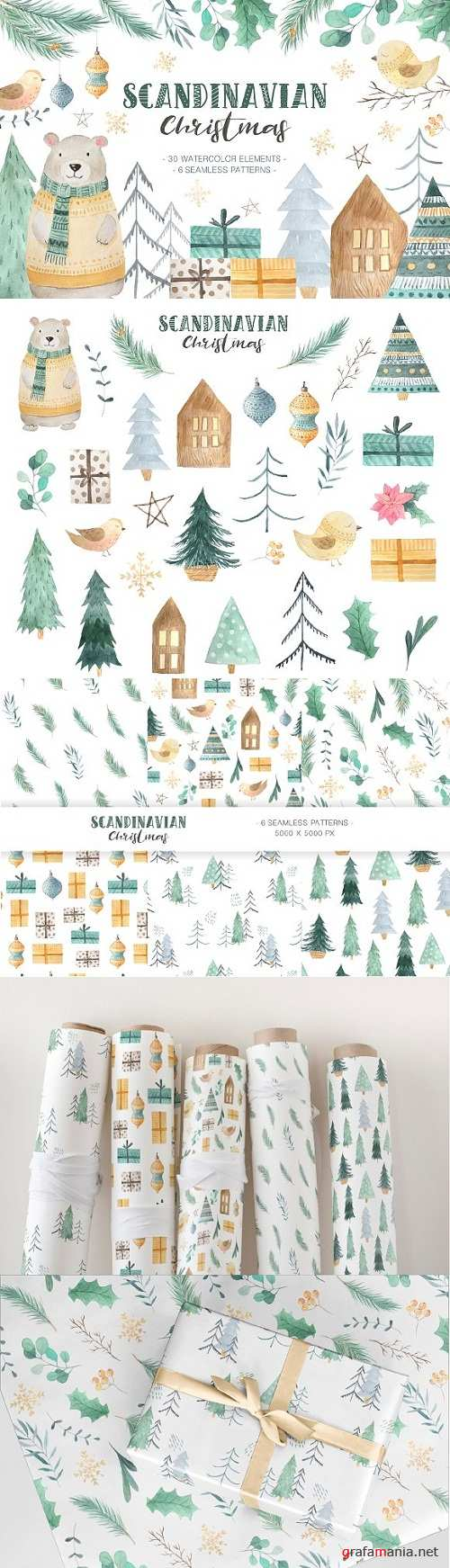 Scandinavian Watercolor Christmas 2031626