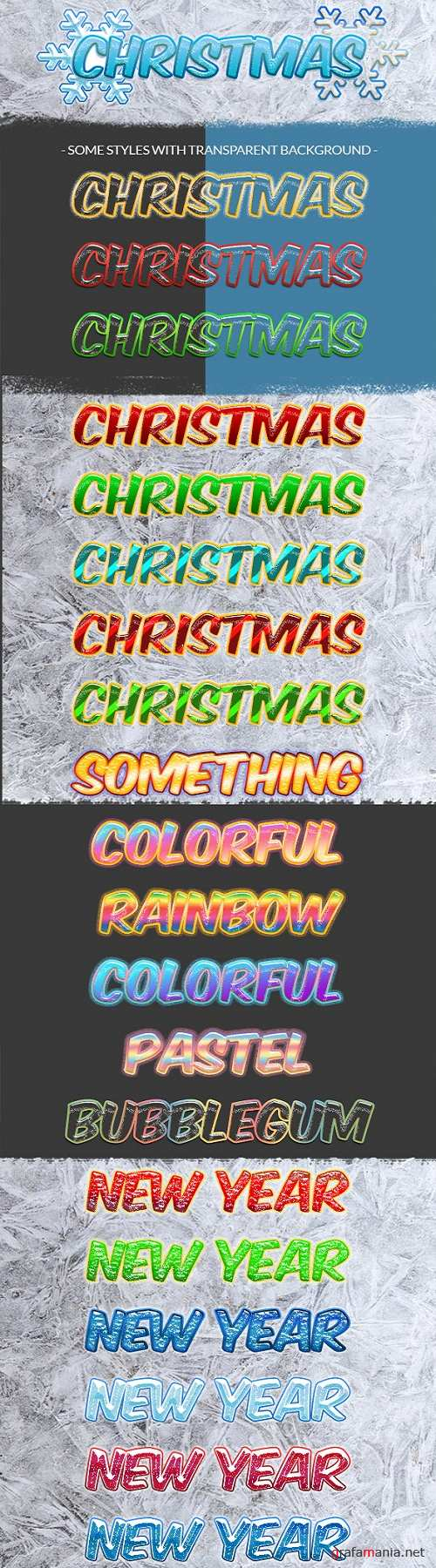 Holiday Christmas Photoshop Text Styles 21078144