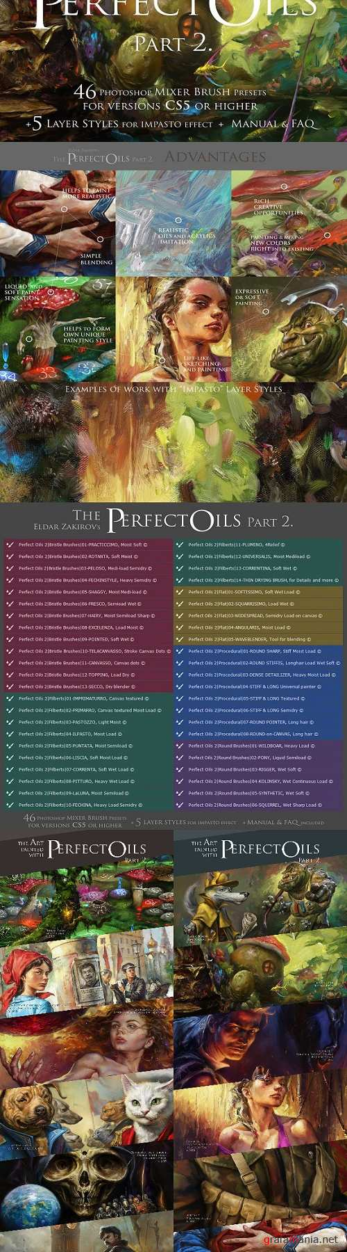 The Perfect Oils 2, 46 Mixer Brushes 2987266