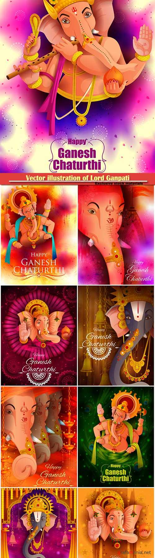 Vector illustration of Lord Ganpati
