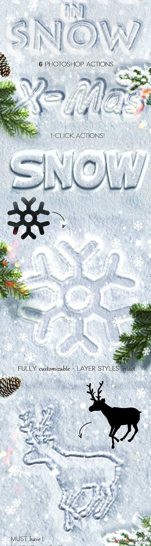 Snow Writing Photoshop Actions for Winter Time - 9442971