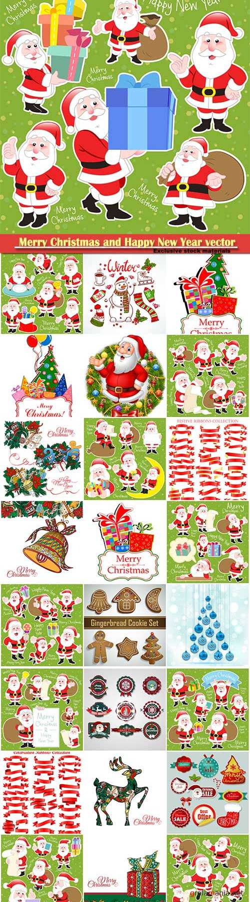 Merry Christmas and Happy New Year vector design # 27