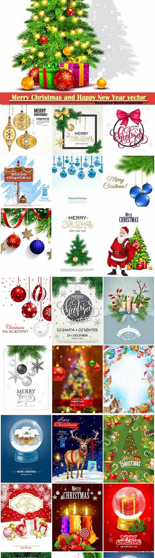 Merry Christmas and Happy New Year vector design # 33
