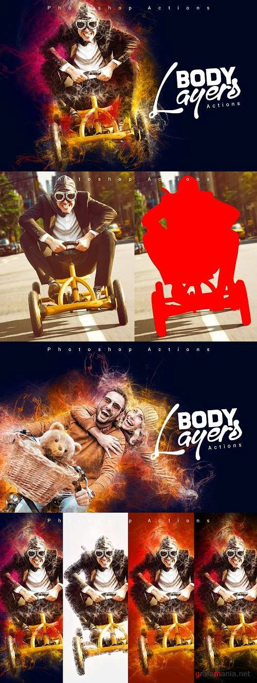 Body Layers Photoshop Actions - 847901