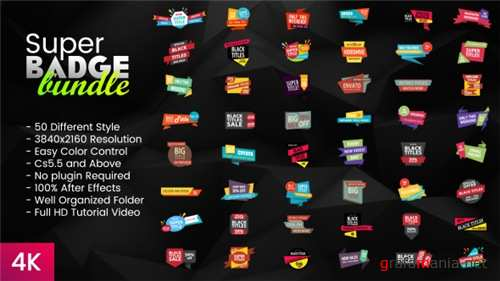 Super Badge Bundle - After Effects Project (Videohive)