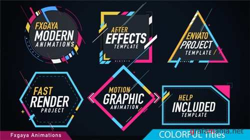 Colorful Titles - After Effects Project (Videohive)