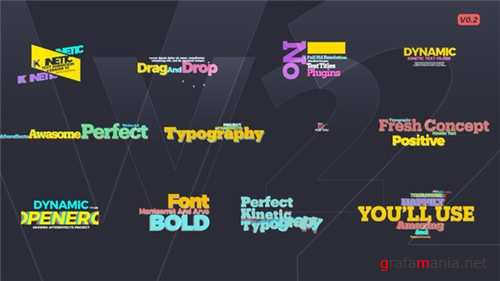 Kinetic Text V2 - After Effects Project (Videohive)