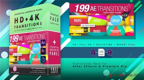 199 Transitions Pack - After Effects Project (Videohive)