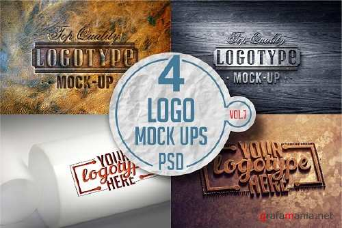 Logo Mock-up Pack Vol 7 3331602