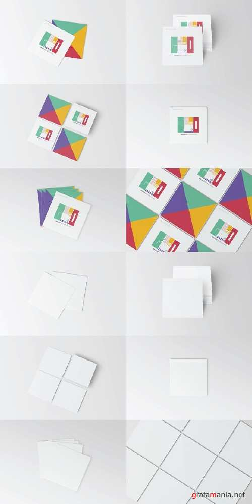 Square Business Card Mockup 2477742