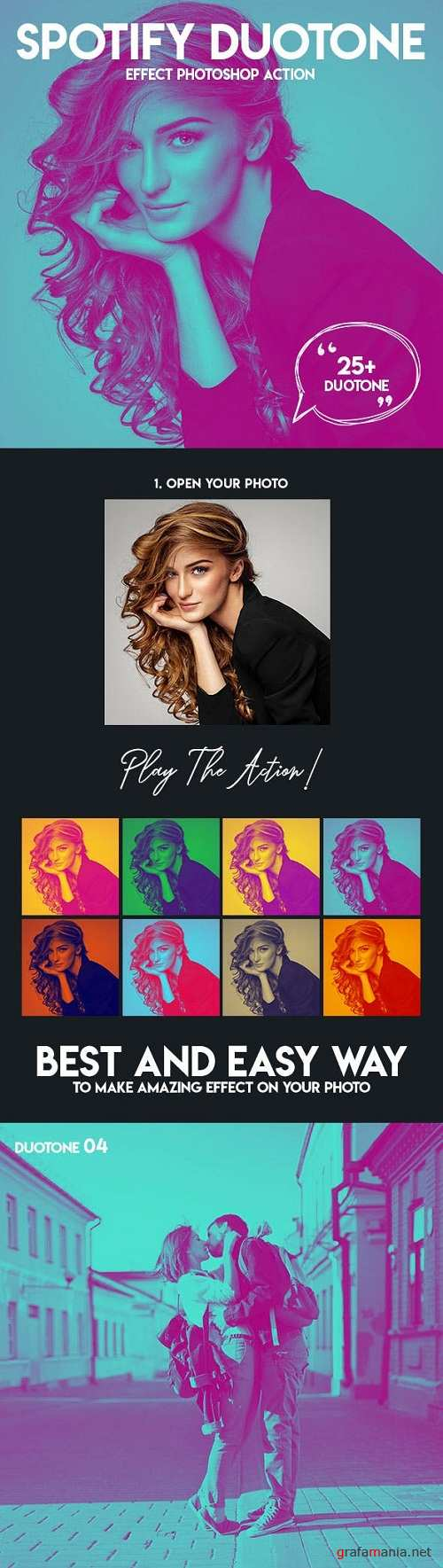 Spotify Duotone Effect Photoshop Action 23016022