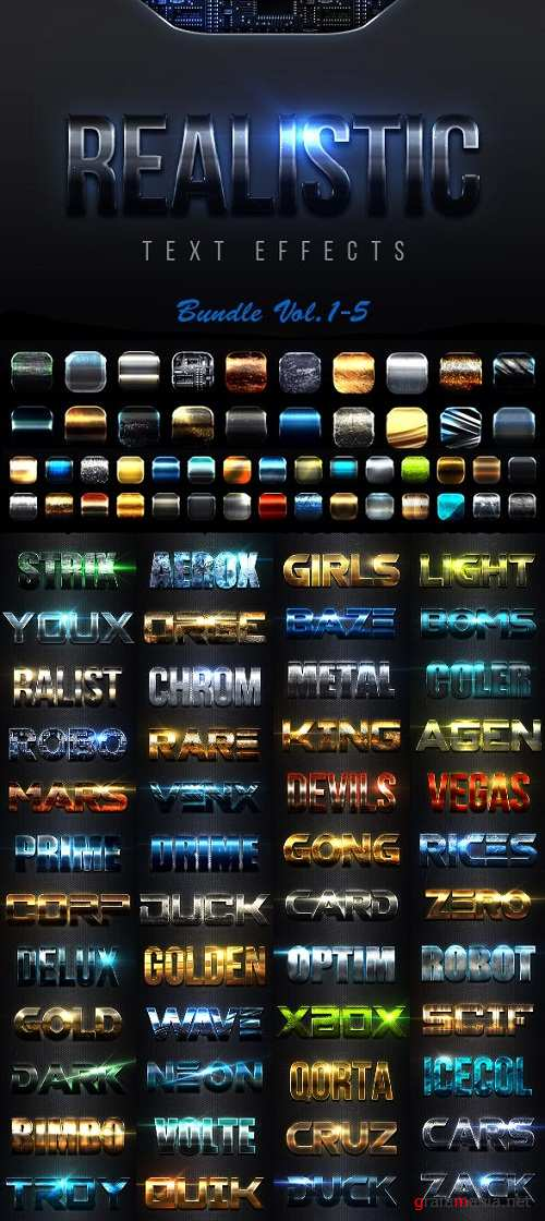 Realistic Text Effects Bundle I - 23095311