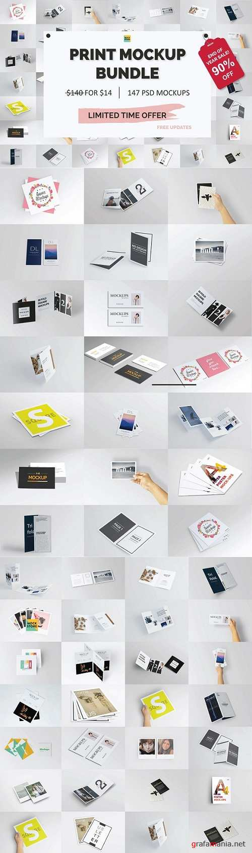 Print Mockup Bundle - Year End Sale - 3311802