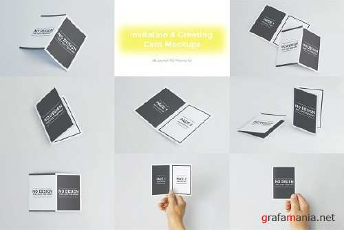 Invitation & Greeting Card Mockups 2563943