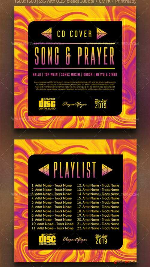 Song and Prayer V1 2019 PSD CD Cover Template