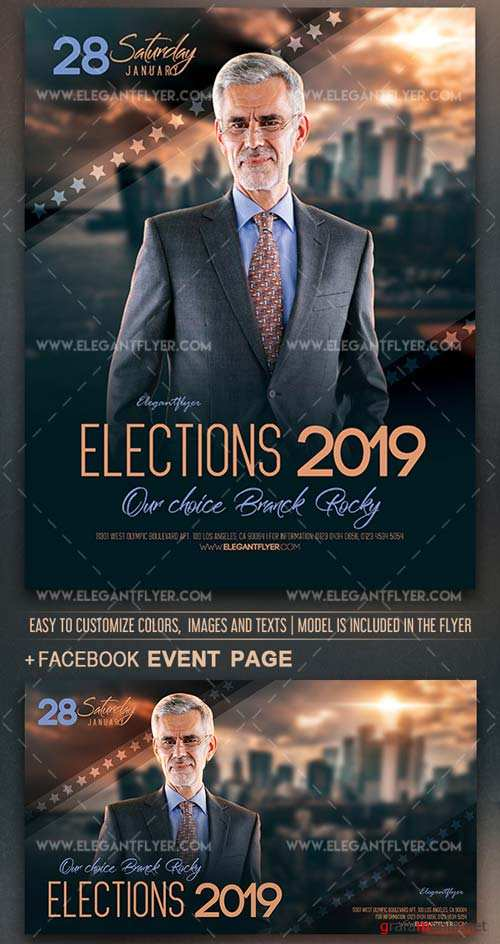 Elections V1 2019 Flyer PSD Template