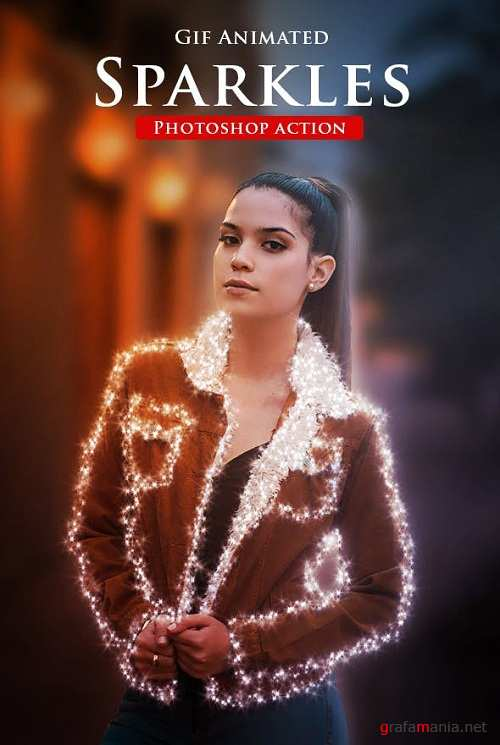 Gif Animated Sparkles Photoshop Action 23091171