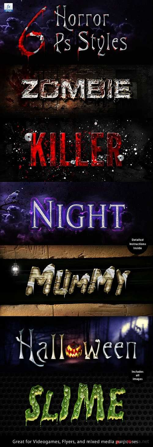 Horror Halloween Creepy Layer Styles Text Effects - 574465
