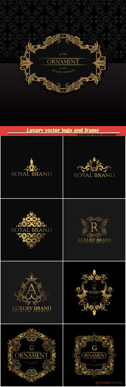 Luxury vector logo and frame