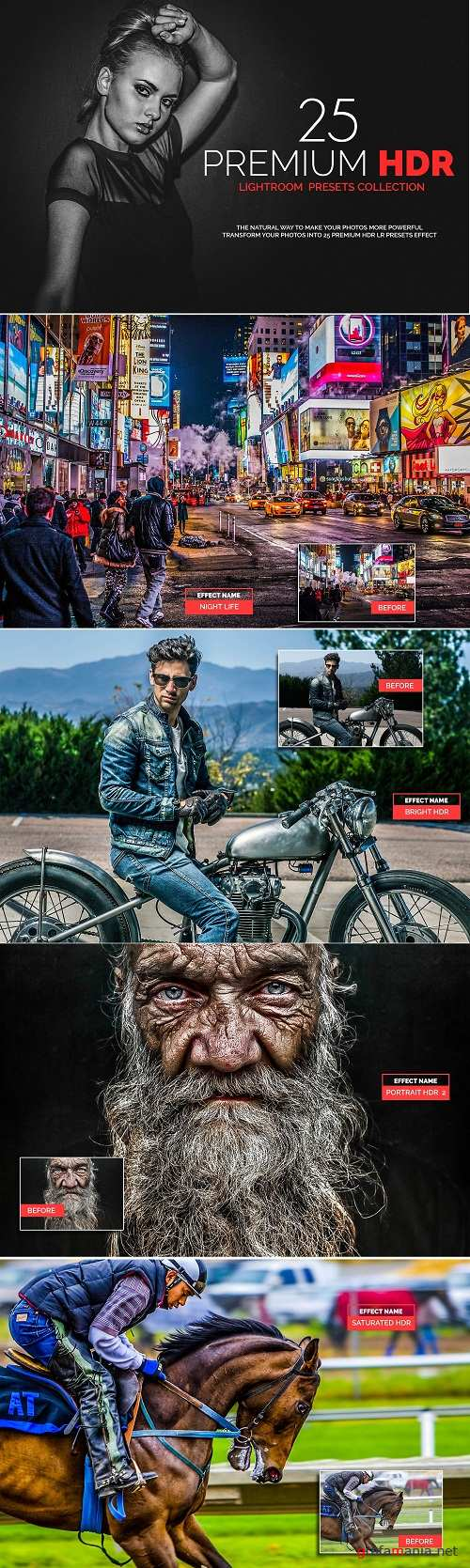 25 Premium HDR Lightroom Presets 3135123