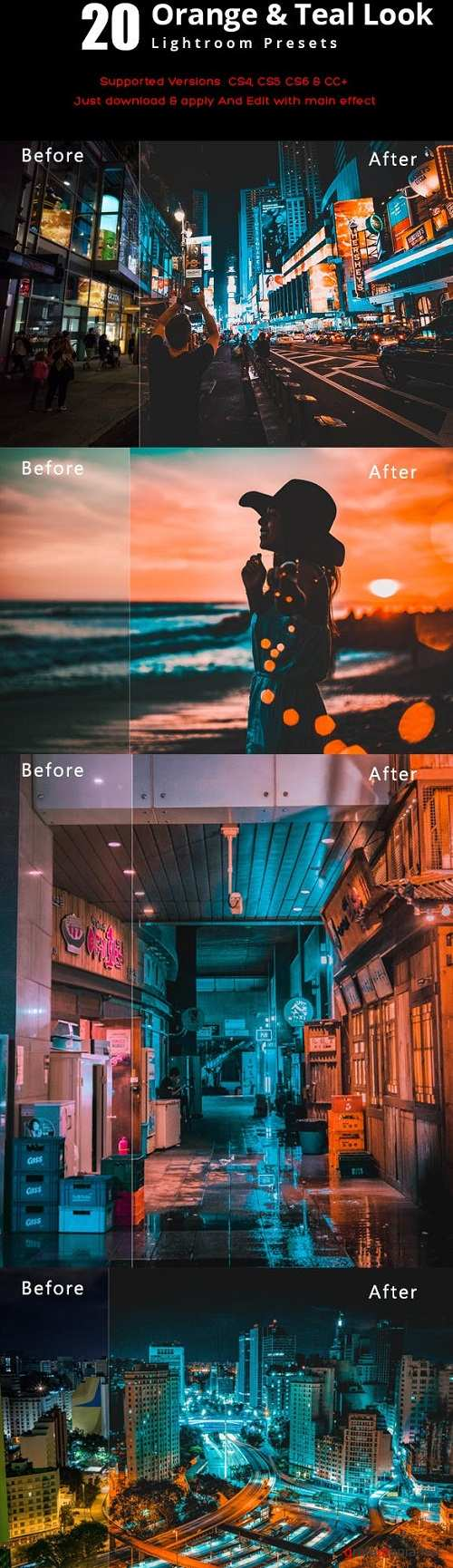 20 Orange & Teal Look Lightroom Preset 23119736
