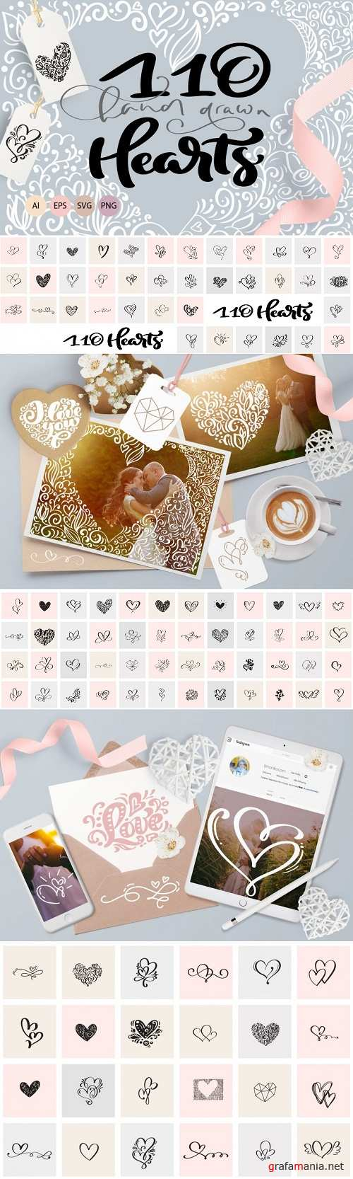 Valentine vector hand draw hearts 3336145 - 3519149
