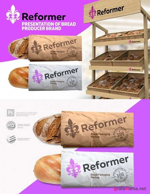 Bread Mock-up Two Presentation Files 3520975