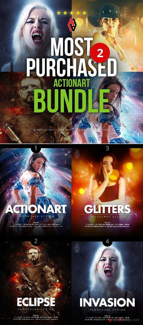 Most Purchased Actionart Bundle 2 - 23068583