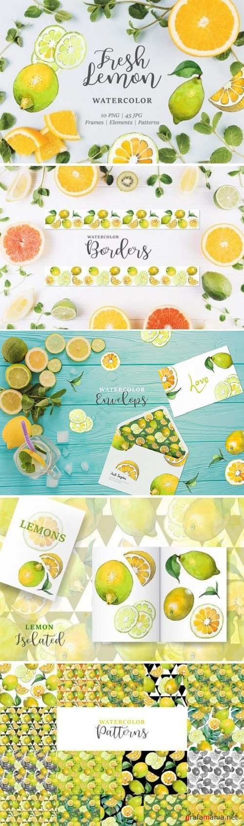 Lemon Watercolor png 3358192