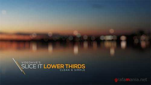 Slice It Lower Thirds - After Effects Project (Videohive)