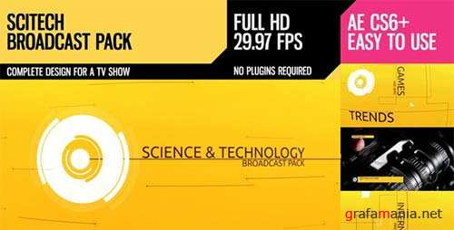 SciTech (Broadcast Pack) - After Effects Project (Videohive)