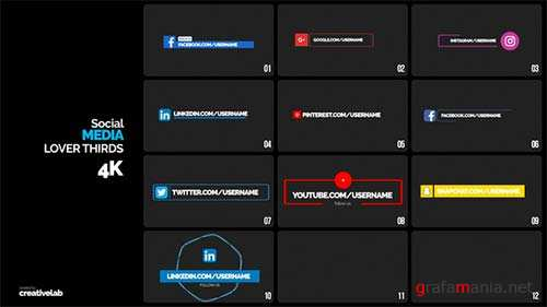 Social Media Lower Thirds 21883024 - After Effects Project (Videohive)