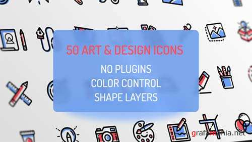Design and Art Icons - After Effects Project (Videohive)