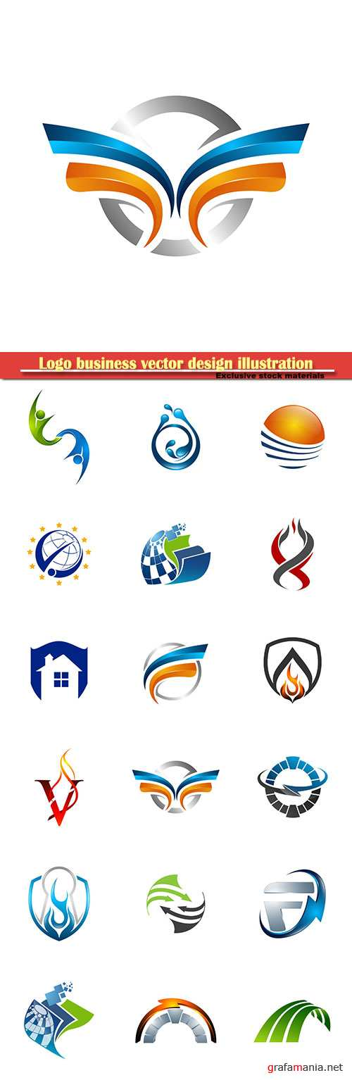 Logo business vector design illustration # 17