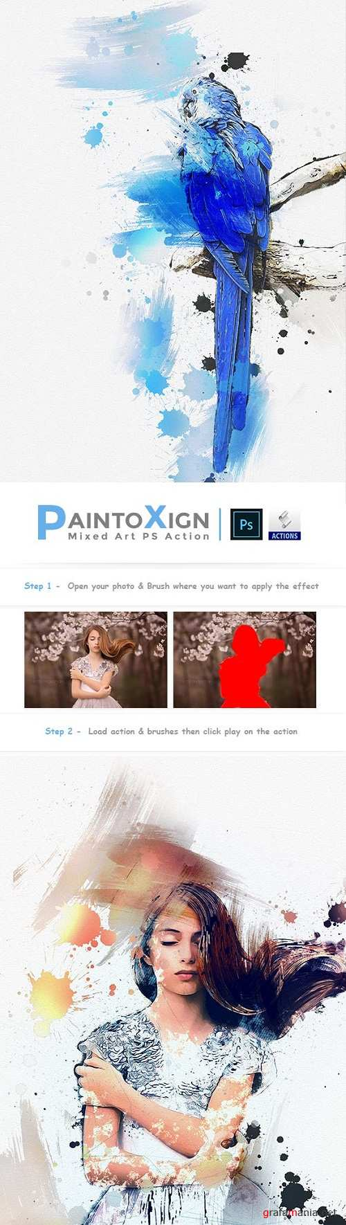 PaintoXign | Mixed Art PS Action 23106638