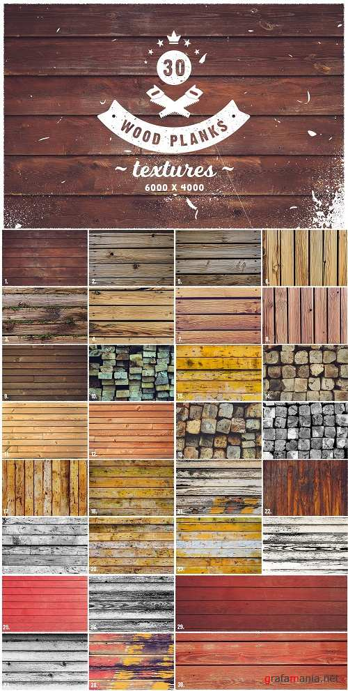 30 Wood Planks Textures - 3338223