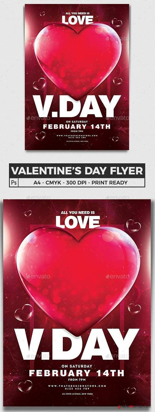 Valentines Day Flyer Template V21 23162684