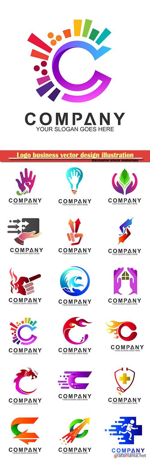 Logo business vector design illustration # 25
