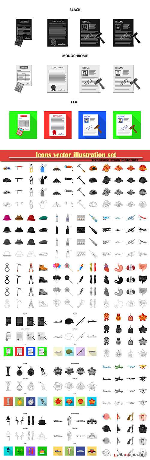 Icons vector illustration set # 13