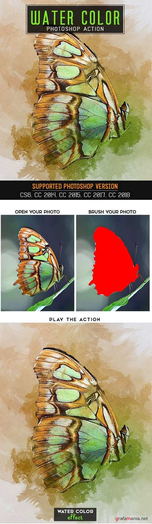Water Color Photoshop Action 23101869
