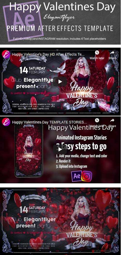 Happy Valentines Day V3 2019 After Effects Template