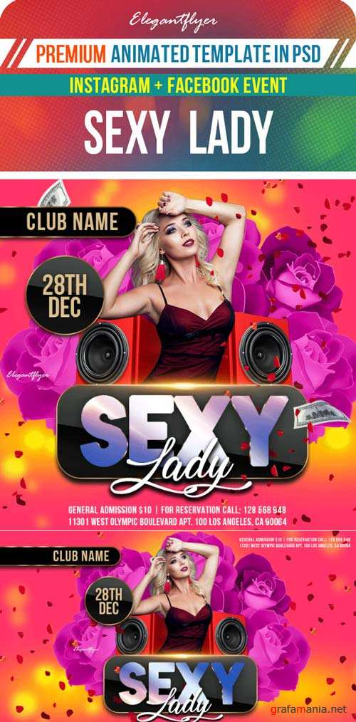 Sexy Lady V1 2019 Animated Instagram + Facebook Flyer Template