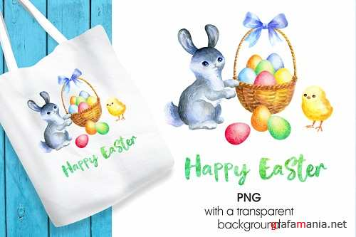Happy Easter. Printable png - 195712