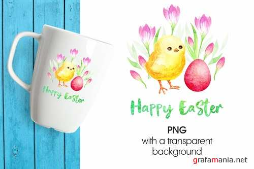 Cute Easter chick. Printable png - 195717